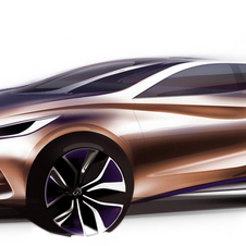 The original sketch for the Q30 is quite similar to the production car