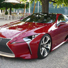 Lexus LF-LC uses a front-mounted hybrid engine that is rear-wheel drive