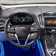 The interior is attractive other than the blue lighting