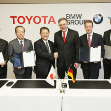 BMW and Toyota signed an agreement in 2012 to develop the car and other technology