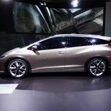 The Civic Tourer was first shown as a concept last year