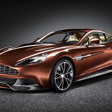 The new Vanquish has a ring of exposed carbon fiber around the bottom of the car