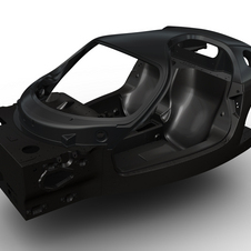 The new composite chassis will be used for the next Ferrari supercar.