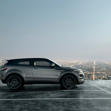 The Evoque comes exclusively in matte grey paint