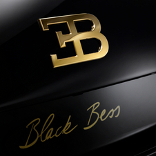 The EB logo on the rear of the vehicle also features a similarly brilliant gold finish