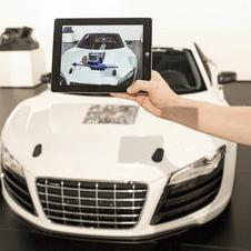 Audi created an augmented reality app for the car as well