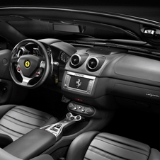 The interior is standard Ferrari luxury and can be ordered with bespoke luggage