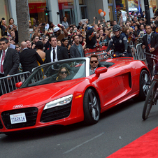 The other stars of the film also drive Audis