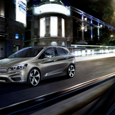 BMW's front-wheel drive platform has been previewed on the Concept Active Tourer