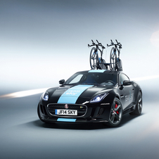 The load capacity of the F-Type Coupe doesn't allow the car to be used in other stages rather than the time trial