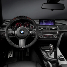 The interior package also adds an Alcantara steering wheel