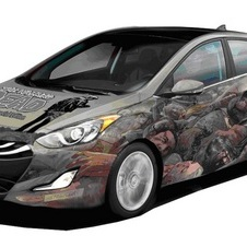 This Elantra GT with the Walking Dead 100th Issue Cover will be given at Comic-Con