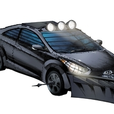 This zombie killing Elantra GT will be on display at the Walking Dead booth