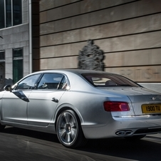 Subtle styling differentiates the Flying Spur V8 from the W12 flagship, including the eight-shaped of the exhaust finishers