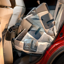 The car has quick-folding rear seats