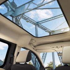 The panoramic sunroof is optional