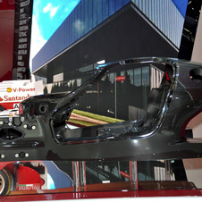 It also showed its monocoque at the Paris Motor Show