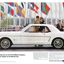 The first Mustang made its debut at the World's Fair in 1964.