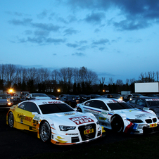 All three new DTM cars sitting together