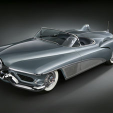 The first tail fins were on this Buick concept in the early 50s.