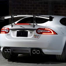 The XKR-S GT gets a variety of carbon fiber aerodynamic additions