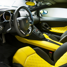 The interior comes with either yellow or brown leather