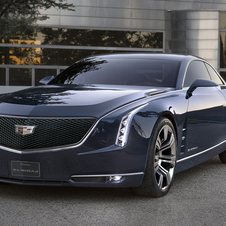 The car has the cascading headlights that is becoming a Cadillac staple