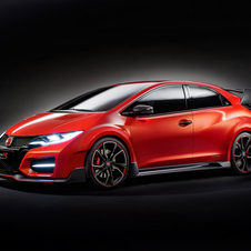 The red band that runs along the front spoiler helps to accentuate the low and wide stance of the Type R