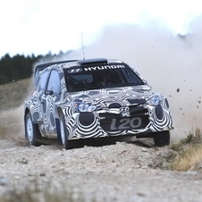The i20 WRC marks Hyundai's return to the WRC