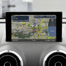 The info is linked to the navigation system