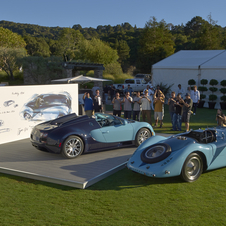 Both the Type 57G Tank and Veyron Wimille were on display at Pebble Beach