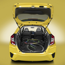 The latest car actually has slightly less cargo room with the seats down
