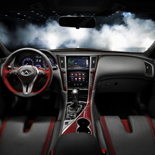 The interior gets sport seats and red-tinted carbon fiber