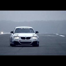 The car is based on the road version of the m235i