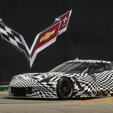 Chevrolet showed the C7.R for the first time by completing a few laps at Laguna Seca