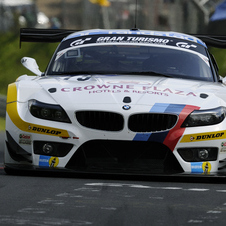 The #19 BMW Team Schubert is driven by Jorg Muller, Dirk Muller, Uwe Alzen and Dirk Adorf