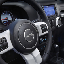 The interior gets heated seats, a leather steering wheel and infotainment system
