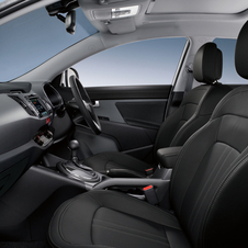 The interior has a host of upgrades including leather, nav, upgraded stereo and sunroof.