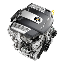 The most likely engine is Cadillac's twin-turbo V6