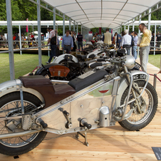 The Villa d'Este features both cars and motorcycles