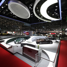 Bugatti brought the three special cars to its booth at Geneva