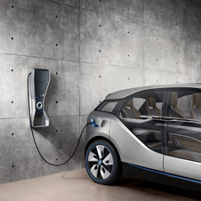The showroom will also sell BMW's i Wallbox quick charger