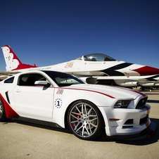 The car is meant to look like a U.S. Air Force Thunderbirds F-16