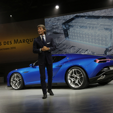 This is the first Lamborghini with plug-in hybrid technology