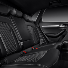 Black leather and Alcantara is standard