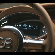 The instrument cluster appears entirely digital