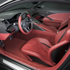 The interior is very driver-focused
