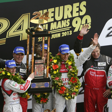 It is Audi's 12th overall victory in the race and driver Tom Kristensen's ninth