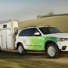The X5 xDrive 30d will be used to tow horses