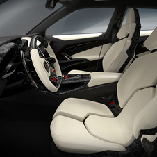 Most of the interior is made from upholstered carbon fiber reinforced plastic